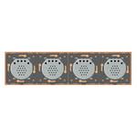 Сенсорный радиоуправляемый проходной выключатель Livolo 4 канала (1-1-1-1) золотой стекло (VL-C704SR-13) фото №5