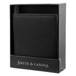 Кошелек мужской кожаный Smithcanova FUL90013-black-grey фото №4