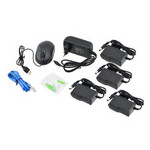 Комплект видеонаблюдения беспроводной DVR KIT CAD Full HD UKC 8004/6673 Wi-Fi 4ch набор на 4 камеры фото №3