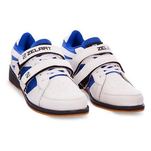 Штангетки Zelart OB-1266 40 Бело-синий (06363042)