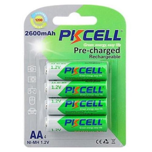 Аккумулятор PkCell Ni-MH AA/HR06 2600 mAh BL 4шт (9319)