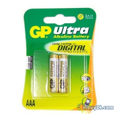 Батарейка GP AAA LR3 Ultra alkaline 2шт (24AU-U2/24AU-UE2/GP24AUP-UE2)