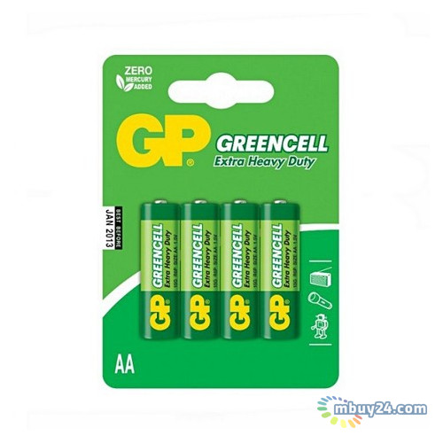 Батарейка GP AA R6 солевая 4 (15G-U4)
