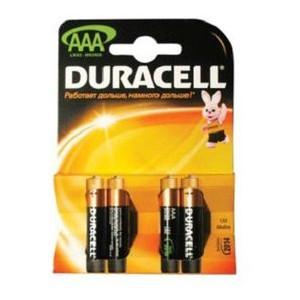 Батарейка Duracell AAA LR-3 1x4 шт