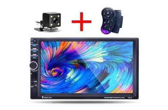 Автомагнитола 2Din 7020G 7 экран, GPS, Bluetooth. Пульт на руль, камера и шахта в комплекте