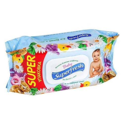 Салфетки влажные Superfresh 120шт (9шт/ящ) 619010