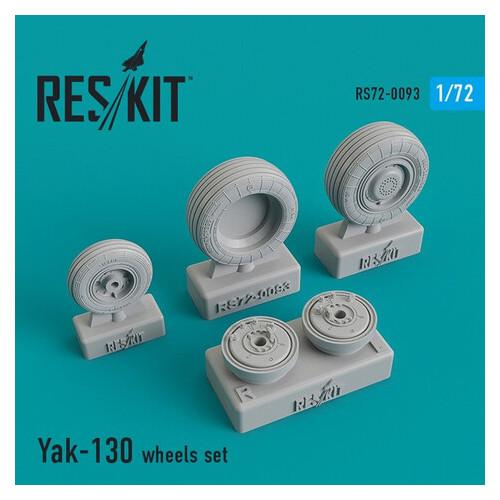Смоляные колеса для самолета Reskit Як-130 (RS72-0093)