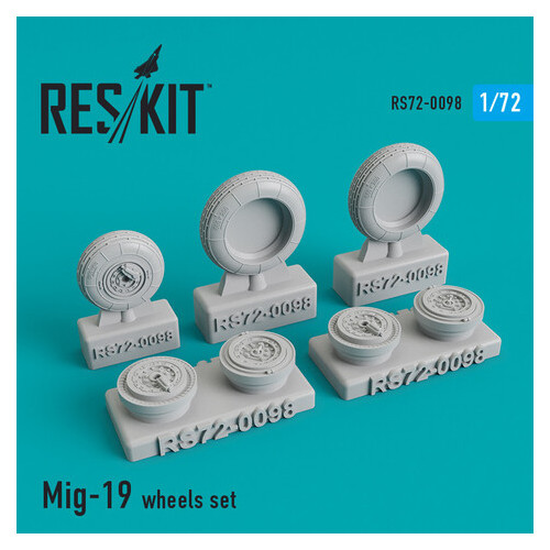 Смоляные колеса для самолета Reskit МиГ-19 (RS72-0098)