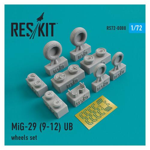 Смоляные колеса для самолета Reskit Микоян МиГ-29 (9-12) UB (RS72-0088)