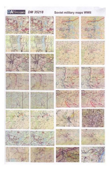 Топографические карты времен Второй Мировой войны, (советские, немецкие) DAN models (DAN35218)