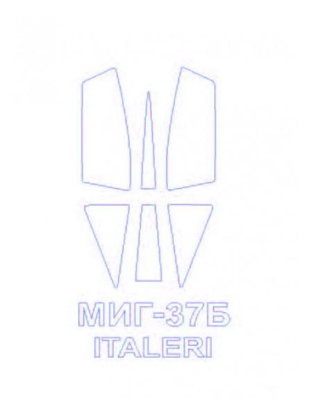 Маска для модели KV Models Самолет МиГ-37Б (KVM72524)