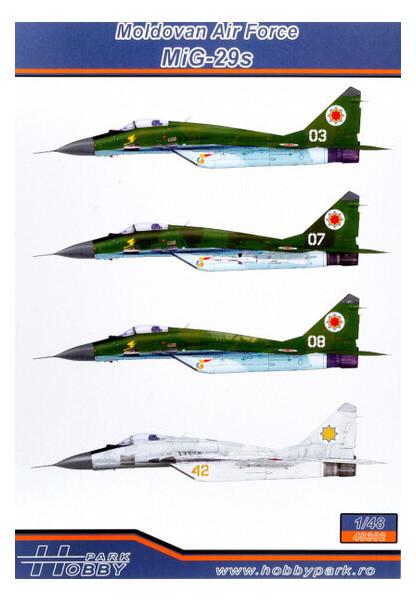 Модель HOBBY PARK Декаль ВВС Молдавии для самолета МиГ-29с (HP48302)