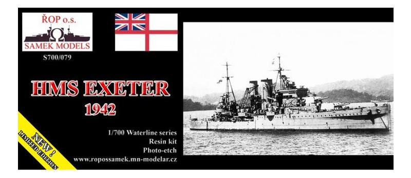 Модель Samek Models Корабль Exeter 1942 ROP o.s. (ROP-S700-079)