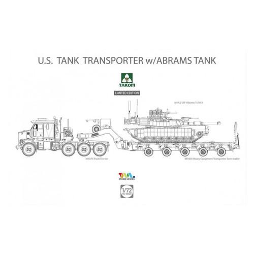 Модель Takom Американский тягач M1070 & M1000 70 Abrams (TAKOM5002X)