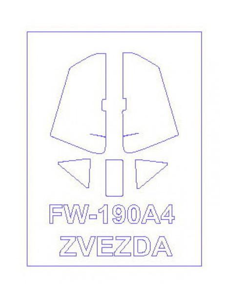 Маска для модели самолета KVB Fw-190A4 (KVM72094)