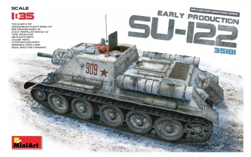 Модель Miniart САУ СУ-122 ранних выпусков (MA35181)