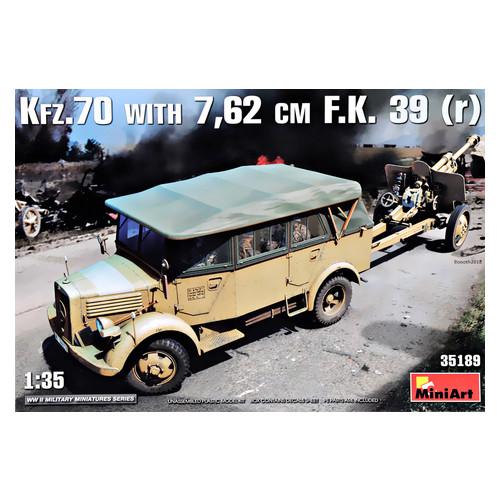 Модель Miniart Германский армейский автомобиль Kfz.70 & 7,62 cm F.K. 39 ( r ) 1:35 MINIART (MA35189)