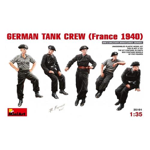Набор фигурок Miniart Немецкий танковый экипаж, Франция 1940 (MA35191)
