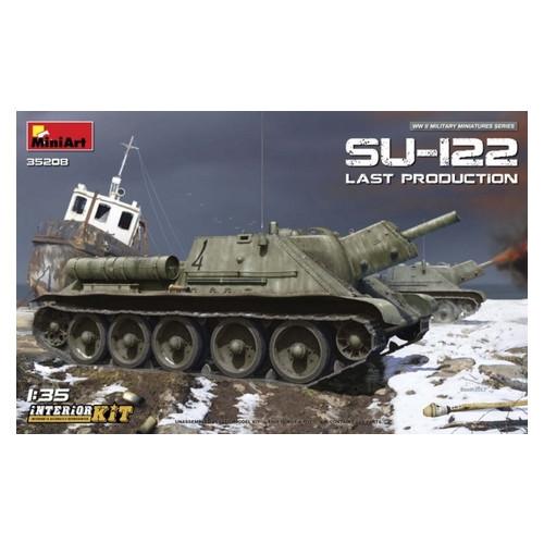Модель Miniart САУ СУ-122 последних выпусков с полным интерьером (MA35208)