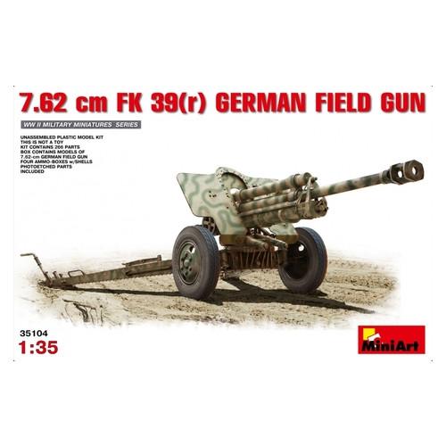 Модель Miniart Немецкая полевая пушка 7,62см FK 39 (MA35104)