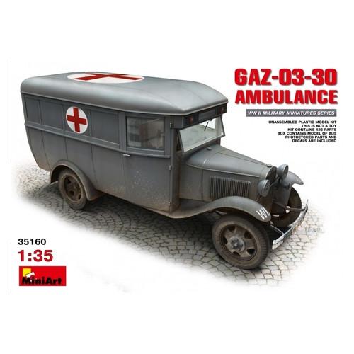 Модель Miniart Санитарный автобус ГАЗ-03-30 (MA35160)