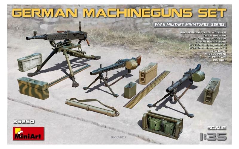 Набор фигурок Miniart Немецких пулеметов (MA35250)