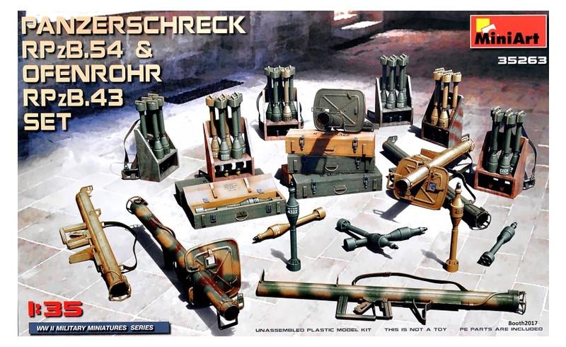 Модель Miniart Немецкие ручные противотанковые гранатометы Ofenrohr RPzB.43 и Panzerschreck RPzB.54 (MA35263)