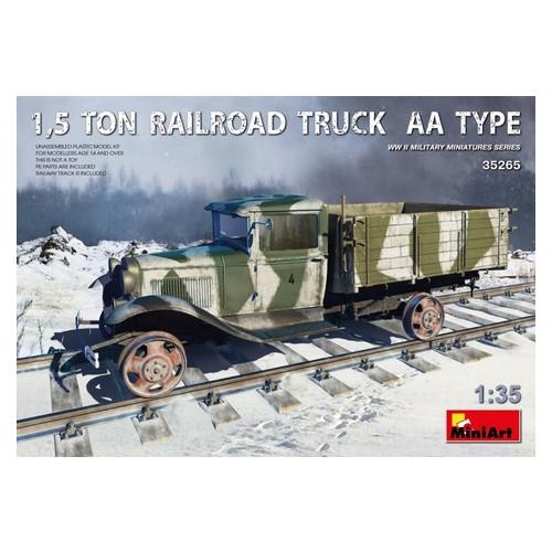 Модель Miniart 1,5-тонный железнодорожный грузовик типа AA (MA35265)