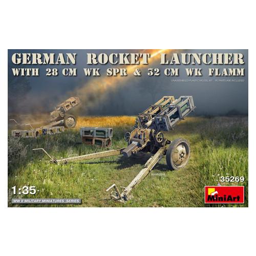 Модель Miniart Немецкая ракетная установка со снарядами 28 см Wk.Spr и 32 см Wk.Flamm (MA35269)