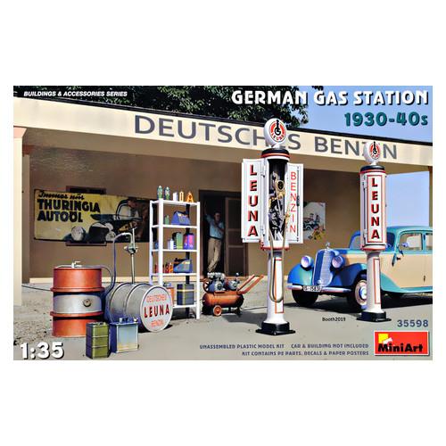 Модель Miniart Набор Немецкая Заправочная Станция 1930-40 гг. (MA35598)