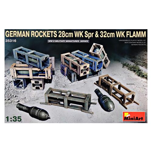 Модель Miniart Немецкие Снаряды 28см WK Spr и 32см WK FLAMM (MA35316)