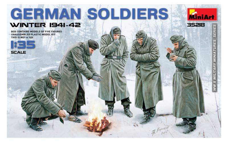 Модель Miniart Немецкие солдаты зима 1941-42 г. (MA35218)