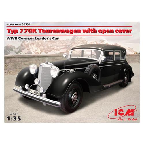 Модель ICM Автомобиль Mercedes Typ 770K (W150) Tourenwagen с раскрытым тентом (ICM35534)