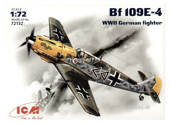 Модель ICM Немецкий истребитель Messerschmitt Bf-109 E4 (ICM72132)