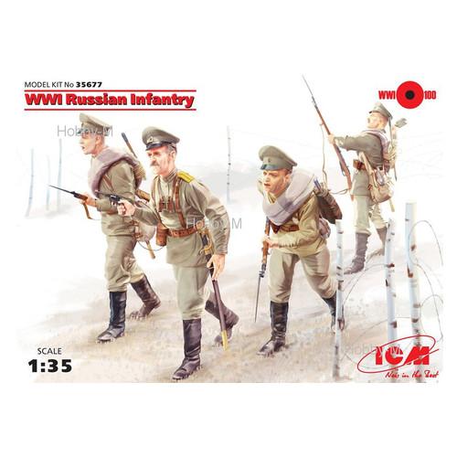 Набор фигурок ICM Русская пехота, Первая мировая война (ICM35677)