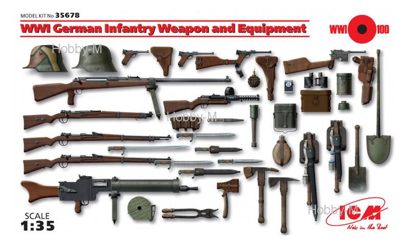 Набор фигурок ICM Немецкое вооружение и снаряжение пехоты І МВ (ICM35678)