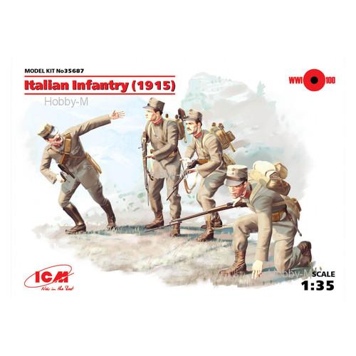 Набор фигурок ICM Пехота Италии 1915 г. (ICM35687)