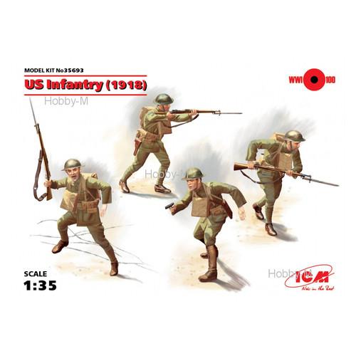 Набор фигурок ICM Пехота США 1918 г. (ICM35693)