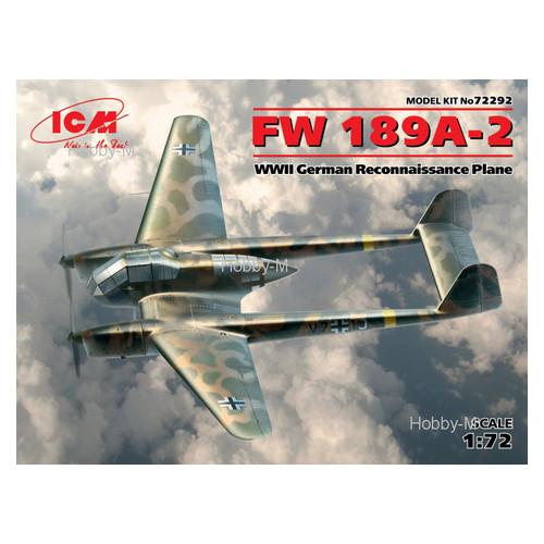 Модель ICM Немецкий самолет-разведчик Fw 189A-2 (ICM72292)