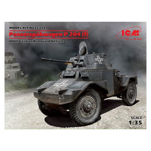 Модель ICM Немецкий бронеавтомобиль Panzerspahwagen P 204 (f), II МВ (ICM35374)