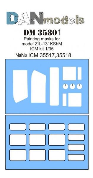Маска DAN models для модели автомобиля ЗиЛ-131 КШМ ICM (DAN35801)