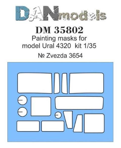 Маска DAN models для модели автомобиля Урал-4320 Zvezda (DAN35802)