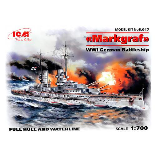 Модель ICM Германский линейный корабль Маркграф І МВ (ICMS017)