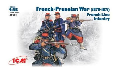 Модель ICM Французская линейная пехота 1870-1871 г 1:35 (ICM35061)