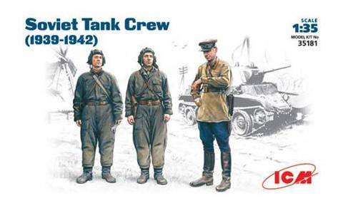 Модель ICM Советский танковый экипаж 1939-1942 г 1:35 (ICM35181)