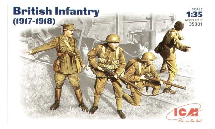 Модель ICM Британская пехота 1917-1918 г 1:35 (ICM35301)