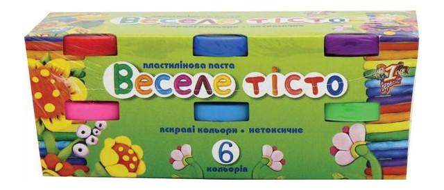Пластилиновая паста 1 Вересня Веселое тесто 6цв. 30гр. (540239)