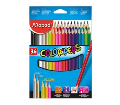 Карандаши цветные Maped Color'Peps Classic 36 цветов (MP.832017)