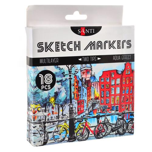 Набор маркеров Santi sketch 18шт/уп (390527)