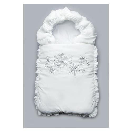 Конверт на выписку зимний Снежинки Модный карапуз 03-00468_Serebro